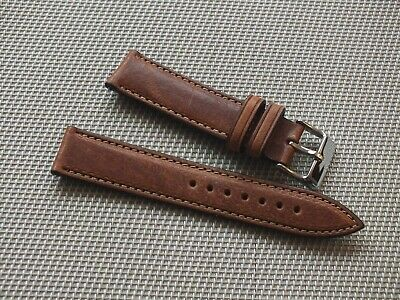 Genuine Italian Leather Quick Release Watch Strap 20mm Brown By Geckota • 6.50£