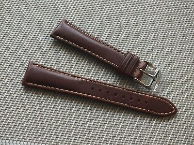 Genuine Horween Leather Padded Watch Strap 20mm Brown By Geckota • 9.50£