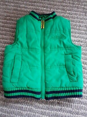 Blue Zoo Debenhams Green Gillet 12-18 Months • 2.50£