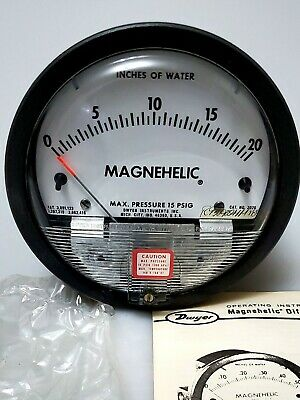 $35 • Buy Dwyer 2020 Magnehelic Differential Pressure Gauge, Type , 0 To 20  WC