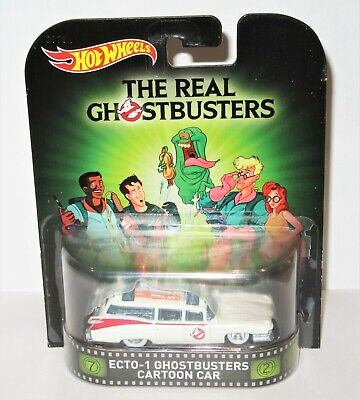 Brand New Mattel Hot Wheels The Real Ghostbusters Ecto-1 Diecast Cartoon Car • 49.99£