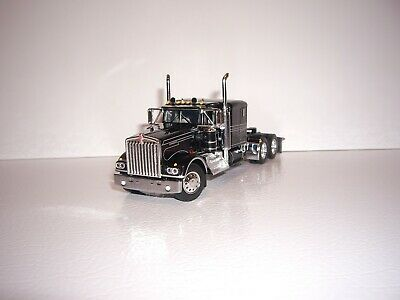 $ CDN83.54 • Buy Dcp First Gear 1/64 Black With Silver Stripes Kenworth W900a With 60  Sleeper