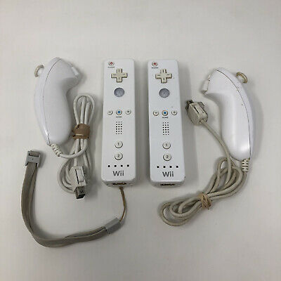 $ CDN50.58 • Buy Nintendo Wii Remote Controllers RVL-003 Nunchucks OEM Tested Working 2x