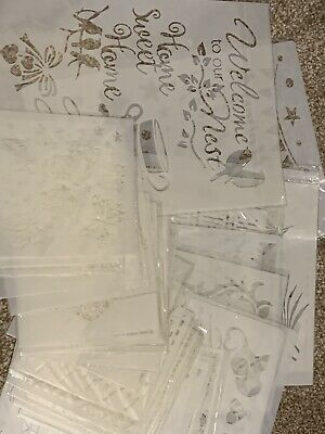 34 Stencils Various Size Painting And Card Making Mask • 25£