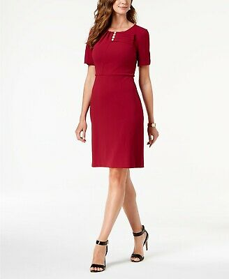 $ CDN26.57 • Buy Ivanka Trump Imitation-Pearl Sheath Dress Purple 16 $138