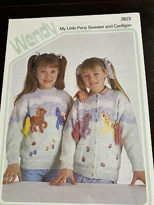Wendy My Little Pony Sweater And Cardigan Jumper Knitting Pattern.26-30inch • 0.99£