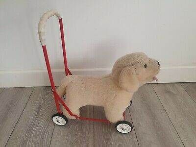 Vintage Plush Push Along Labrador Dog Toy Made By Mulholland And Bailie • 40£