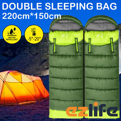 AU39.95 • Buy -5-20℃ Sleeping Bag Tent Hiking Thermal Single Double Bags Outdoor Camping ACB#