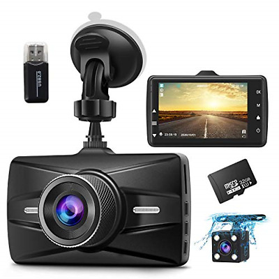 AU87.73 • Buy Dash Cam Front And Rear 1080P FHD With 32G SD Card Included Car Dual Lens Camera