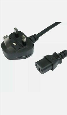 Joblot 10x 1m IEC Kettle Lead Power Cable 3 Pin UK Plug PC Monitor C13 Cord • 19.99£