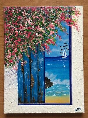 Door To The Sea (Canvas Painting) [30x40cm] • 35£