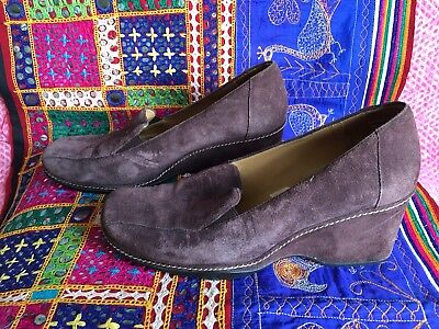 Rockport Brown Suede Wedge Size 5 • 5£