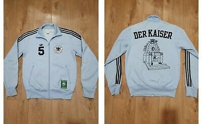ADIDAS Germany Track Jacket DER Kaiser World Cup Tracksuit Top RARE Vintage  • 50.99£
