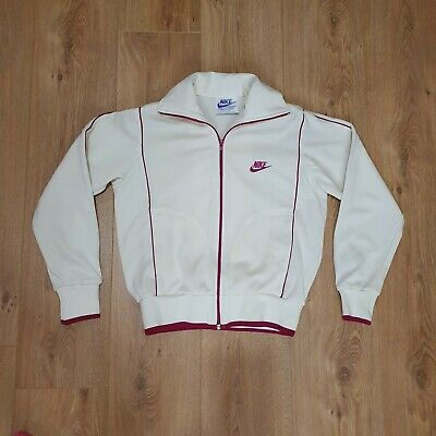 NIKE SMALL Track Top Jacket Tracksuit Sports Gym Cream Colour May Fit UK 8-10 • 9.99£