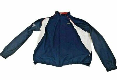 Lacoste Mens Tracksuit Top Full Zip Jacket XXL 2XL Blue Red White 90's Big Logo  • 44.95£