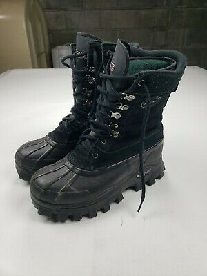 LaCrosse Men's Size 10 Winter Snow Boots Black Leather Thermolite  Insulation • 32.56£
