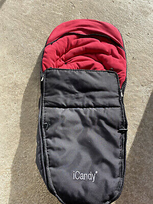 ICandy Apple Footmuff - Black And Red • 10£