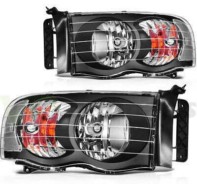 $85.36 • Buy Fits 02-05 Dodge Ram 1500 2500 3500 Front Headlights Assembly Left + Right Sides