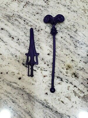 $10 • Buy Authentic Vintage Masters Of The Universe, MOTU Part - SKELETOR WEAPONS! He-Man