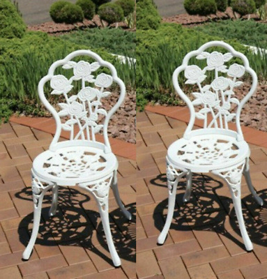 £139.90 • Buy Vintage Garden Chairs French Style Furniture Metal Bistro Patio Cast Iron Set 2