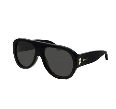 AU285 • Buy Authentic Gucci Sunglasses GG0668S 001 Black Grey Brand New With Tags