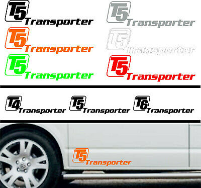 £11.95 • Buy Transporter Camper Van Sticker Decal Graphic T4 T5 T6 Colour Choice (BB391)