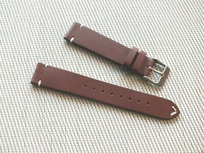 Horween Leather V Stitch Quick Release Watch Strap 18mm Nut Brown By Geckota • 6.09£