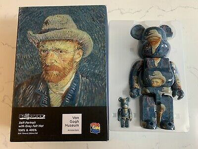 $299 • Buy Bearbrick Medicom Van Gogh Self Portrait 400% 100% Set Brand New Box Not Perfect