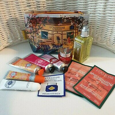 L'OCCITANE Set Shampoo Conditioner Face Cream Hand Cream Lip Balm Eye Balm Bag • 29.99£