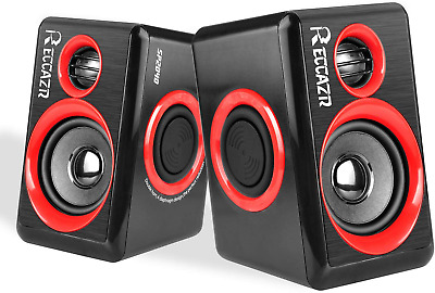 £21.81 • Buy Gaming Speakers 6x9 PC Surround Sound System Loud Deep Bass USB Desktop New