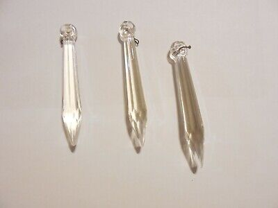 """£10.61 • Buy Antique Chandelier Replacement Crystals Prisms Sword Spears 3 1/8"""" Lot 3"""