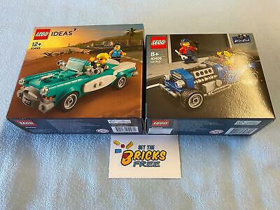 AU84.99 • Buy Lego Exclusives Lot Of 2 Cars 40409 Hot Rod & 40448 Vintage Car New/Sealed/H2F