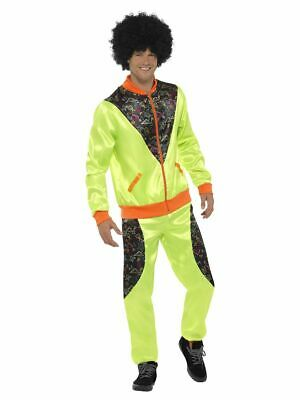 Mens 80s Shell Suit Fancy Dress Costume Scouser Tracksuit Trackie Smiffys Yellow • 16.49£