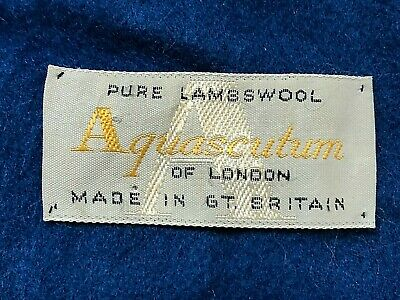 Aquascutum - Pure Lambswool Scarf ( Blue ) - Long & Soft & Warm - Fast Post   • 15£