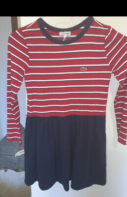 Lacoste Girls Dress Age 10. Navy/red  • 4.99£