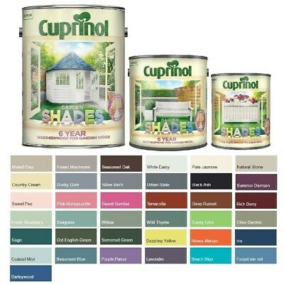 £15.45 • Buy Cuprinol Garden Shades Paint - Furniture Sheds Fences - All Colours And Sizes