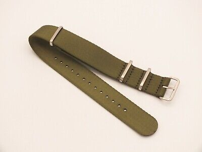 Zuludiver Nylon G10 Drivers Watch Strap Satin Green / Brushed Buckle 22mm • 3.99£