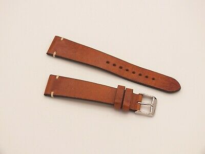 Genuine Leather Watch Strap 20mm Nut Brown By Geckota • 6.50£