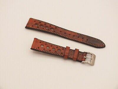 Genuine Top Grain Leather Radstock Rally Watch Strap Vintage Brown 18mm, Geckota • 4.76£