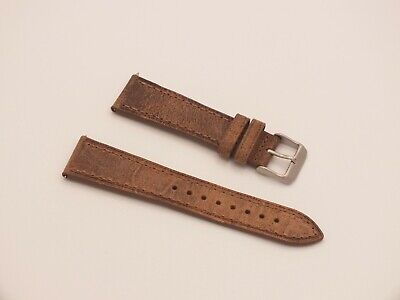 Genuine Leather Quick Release Watch Strap 22mm Weathered Brown By Geckota • 4.39£