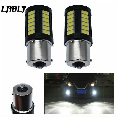 $7.87 • Buy 2X 1156 3014 High Power 33 SMD 6000K White Tail Brake Stop LED Lights Bulbs US