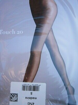 WOLFORD Satin Touch 20 Madeira Colourway TIGHTS.Sz S.UK 10/12. • 9.50£