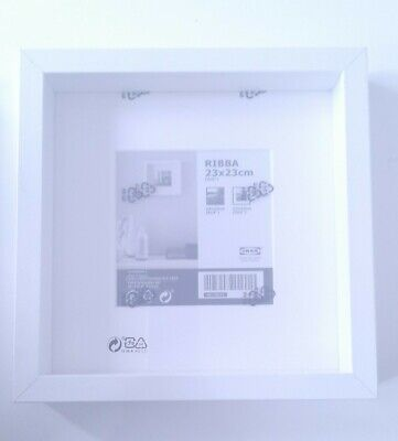 BRAND NEW WHITE IKEA RIBBA Picture Box Deep Frame Display Square 23x23cm  • 3£