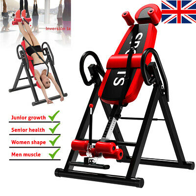 INVERSION TABLE Back Bench Folding Gravity Fitness Exercise For Home Gym Workout • 134.99£