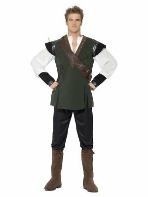 £17.99 • Buy Medieval Robin Hood Mens Fancy Dress Costume Stag Party Outfit Halloween Medium