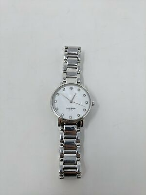 $ CDN125.32 • Buy Women's Kate Spade Gramercy Mother Of Pearl Dial Watch Model 1YRU0006 - Silver