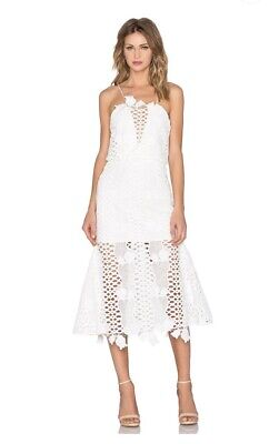 AU119 • Buy Alice McCall Love Light Lace Embroidered Dress In White Size 6 - As New RRP $390