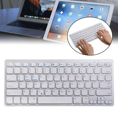 NEW SLIM WIRELESS KEYBOARD FOR IMAC IPAD ANDROID PHONE TABLET PC WHITE UK Ae • 12.68£