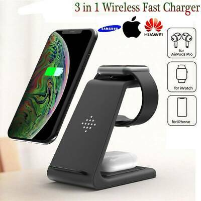 AU38.99 • Buy 3in1 Wireless Charger Dock Fast Charging Station For IPhone IWatch Samsung Watch