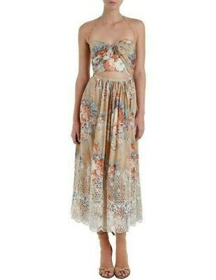 AU307.50 • Buy Zimmermann Anais Tie Picnic Dress, Size 0